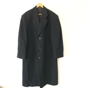 Pierre Cardin Vintage Black Single Overcoat